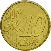 Belgium, 10 Euro Cent, 2001, MS(63), Brass, KM:227