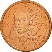 France, 2 Euro Cent, 2000, SPL, Copper Plated Steel, KM:1283