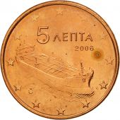 Greece, 5 Euro Cent, 2006, MS(63), Copper Plated Steel, KM:183