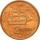 Grèce, 2 Euro Cent, 2002, SPL, Copper Plated Steel, KM:182