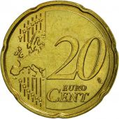 Luxembourg, 20 Euro Cent, 2007, SPL, Laiton, KM:90