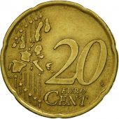 Portugal, 20 Euro Cent, 2002, MS(63), Brass, KM:744
