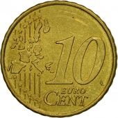 Portugal, 10 Euro Cent, 2002, MS(63), Brass, KM:743