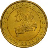 Monaco, 10 Euro Cent, 2001, MS(63), Brass, KM:170