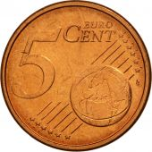 GERMANY - FEDERAL REPUBLIC, 5 Euro Cent, 2002, MS(63), Copper Plated Steel