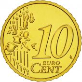 Austria, 10 Euro Cent, 2004, MS(63), Brass, KM:3085