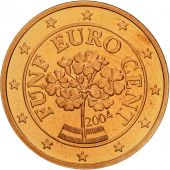 Autriche, 5 Euro Cent, 2004, SPL, Copper Plated Steel, KM:3084