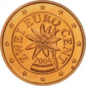 Autriche, 2 Euro Cent, 2004, SPL, Copper Plated Steel, KM:3083