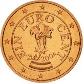 Autriche, Euro Cent, 2004, SPL, Copper Plated Steel, KM:3082