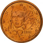 France, 5 Euro Cent, 2001, SPL, Copper Plated Steel, KM:1284