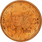 France, 2 Euro Cent, 2001, SPL, Copper Plated Steel, KM:1283