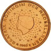 Netherlands, Euro Cent, 2003, MS(63), Copper Plated Steel, KM:234