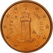 San Marino, Euro Cent, 2006, MS(63), Copper Plated Steel, KM:440
