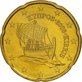 Cyprus, 20 Euro Cent, 2008, MS(63), Brass, KM:82