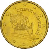 Cyprus, 10 Euro Cent, 2008, MS(63), Brass, KM:81