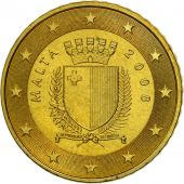 Malta, 50 Euro Cent, 2008, MS(63), Brass, KM:130