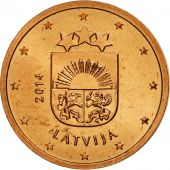 Latvia, 2 Euro Cent, 2014, SPL, Copper Plated Steel, KM:151