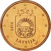 Latvia, Euro Cent, 2014, SPL, Copper Plated Steel, KM:150