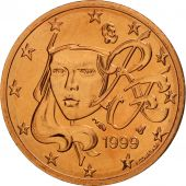 France, 2 Euro Cent, 1999, FDC, Copper Plated Steel, KM:1283