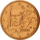 France, 2 Euro Cent, 2000, FDC, Copper Plated Steel, KM:1283