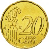 France, 20 Euro Cent, 2001, FDC, Laiton, KM:1286