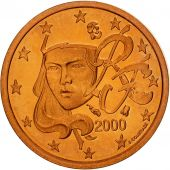 France, Euro Cent, 2000, BE, Copper Plated Steel, KM:1282