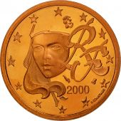 France, 5 Euro Cent, 2000, BE, Copper Plated Steel, KM:1284
