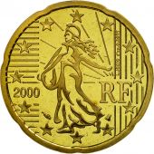 France, 20 Euro Cent, 2000, BE, Laiton, KM:1286