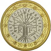 France, Euro, 2000, BE, Bi-Metallic, KM:1288