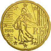 France, 20 Euro Cent, 2003, BE, Laiton, KM:1286