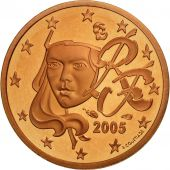 France, Euro Cent, 2005, BE, Copper Plated Steel, KM:1282
