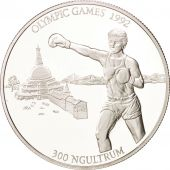 Bhoutan, 300 Ngultrum 1992, Jeux Olympiques 1992, Box, KM 77