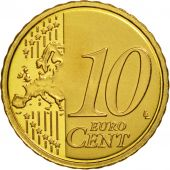 VATICAN CITY, 10 Euro Cent, PROOF 2008, MS(63), Brass, KM:385