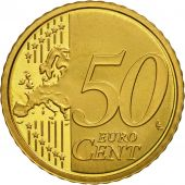 VATICAN CITY, 50 Euro Cent, PROOF 2008, MS(63), Brass, KM:387