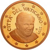 Cité du Vatican, Euro Cent, BE 2009, SPL, Copper Plated Steel, KM:375