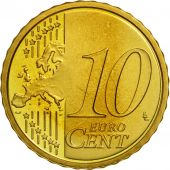 VATICAN CITY, 10 Euro Cent, PROOF 2009, MS(63), Brass, KM:385