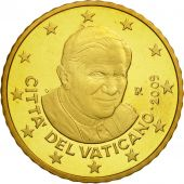 VATICAN CITY, 50 Euro Cent, PROOF 2009, MS(63), Brass, KM:387