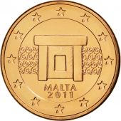 Malte, 5 Euro Cent, 2011, SPL, Copper Plated Steel, KM:127
