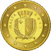 Malta, 50 Euro Cent, 2011, MS(63), Brass, KM:130