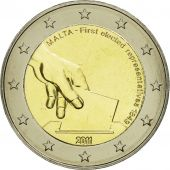 Malte, 2 Euro, First elected representatives, 2011, SPL, Bi-Metallic, KM:144