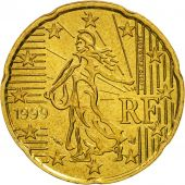 Coin, France, 20 Euro Cent, 1999, MS(65-70), Brass, KM:1286