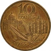 France, Stendhal, 10 Francs, 1983, Paris, TTB+, Nickel-Bronze, KM:953