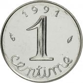 France, Épi, Centime, 1991, Paris, MS(65-70), Stainless Steel, KM:928