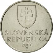 Slovaquie, 2 Koruna, 2007, FDC, Nickel plated steel, KM:13
