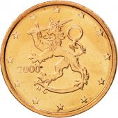 Finlande, 2 Euro Cent, 2000, FDC, Copper Plated Steel, KM:99