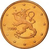 Finlande, 5 Euro Cent, 2000, FDC, Copper Plated Steel, KM:100
