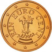 Autriche, Euro Cent, 2002, FDC, Copper Plated Steel, KM:3082