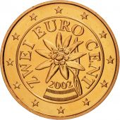 Autriche, 2 Euro Cent, 2002, FDC, Copper Plated Steel, KM:3083