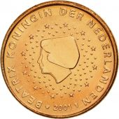 Netherlands, Euro Cent, 2001, MS(65-70), Copper Plated Steel, KM:234
