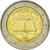 Greece, 2 Euro, Traité de Rome 50 ans, 2007, MS(63), Bi-Metallic, KM:216